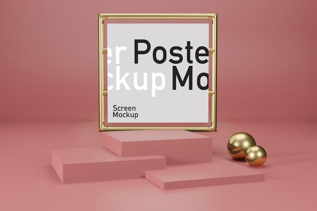 Сценический макет с макетом плаката