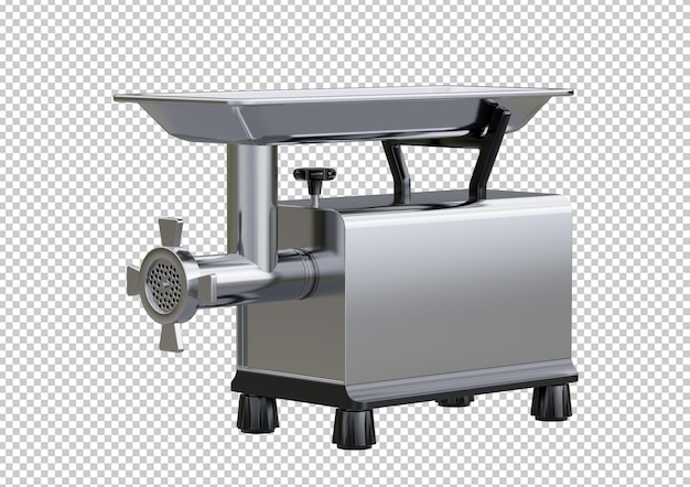 Stainless steel electric meat grinder isolated