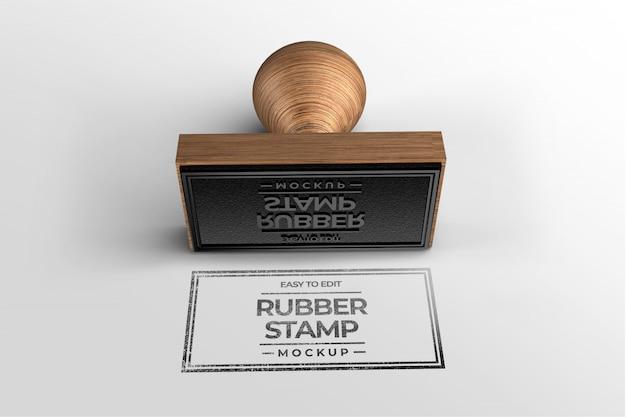 Stamp logo mockup template