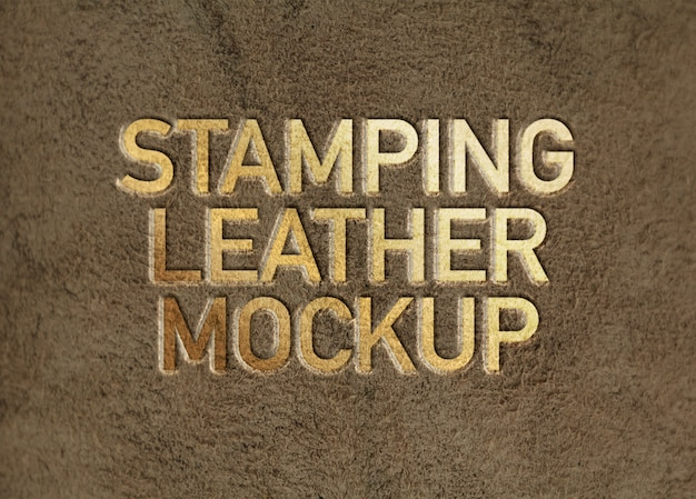 Stamping leather mockup