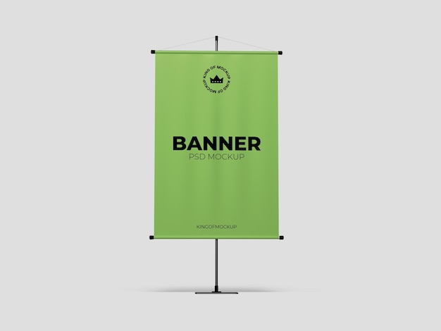 Stand banner mockup design isolated