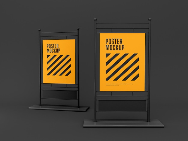 Stand banner mockup