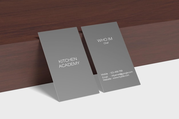 Stand business card mockup design rendering