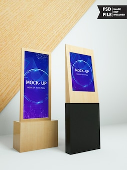 Stand monitor mockup