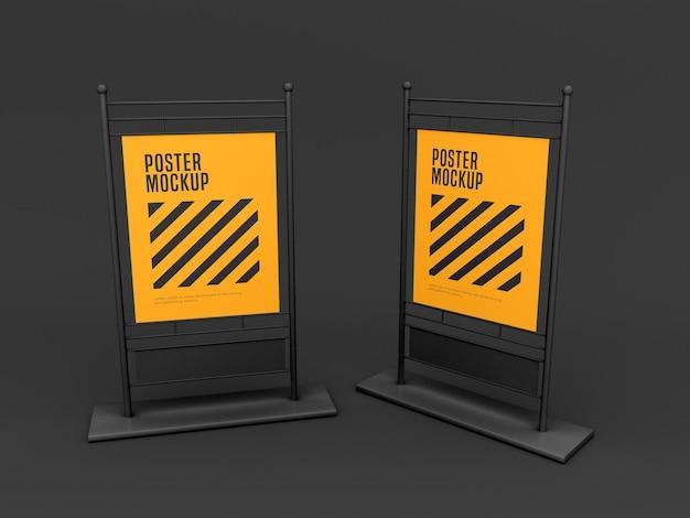Stand poster mockup Premium Psd
