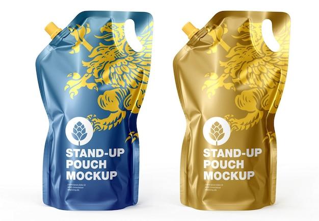 Мокап сока stand up pouch