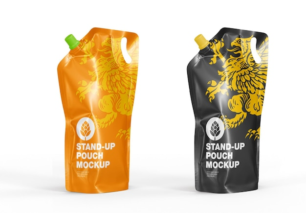 Stand up pouch juice mockup
