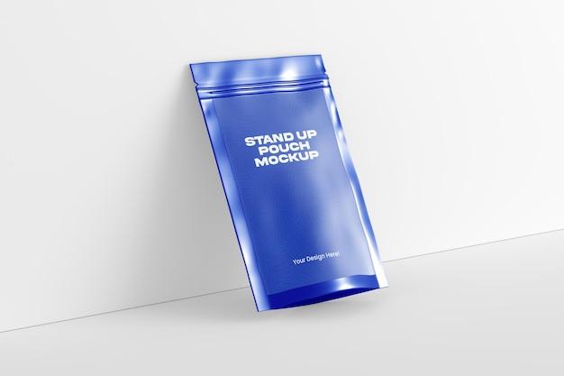 3d 렌더링에서 스탠드 업 파우치 모형 디자인