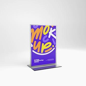 Standing acrylic flyer mockup