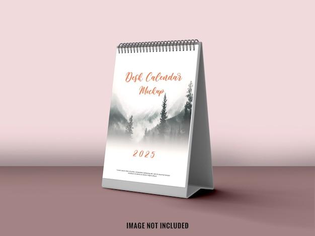 Standing desk calendar with soft color mockup