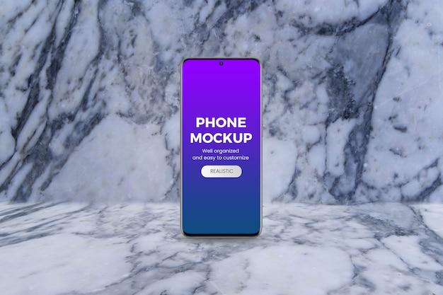 Standing phone mockup