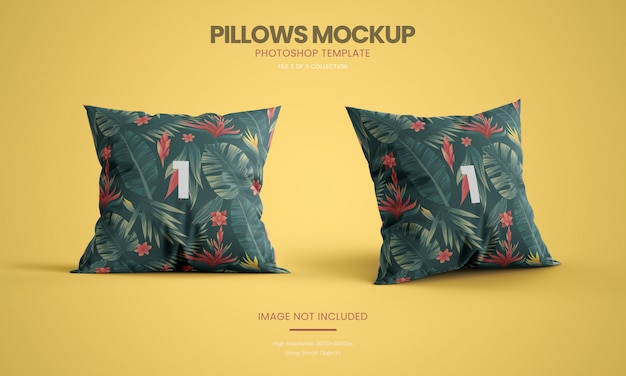 Standing pillow mockup set