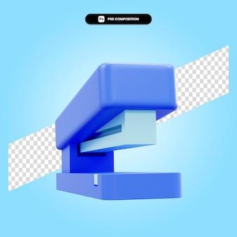 Степлер 3d визуализации изолированных иллюстрация