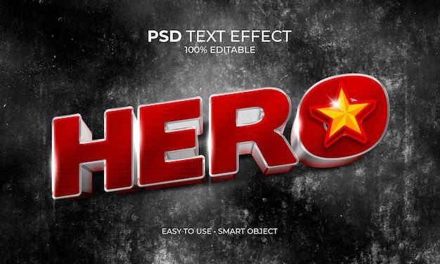 Текстовый эффект звездного героя