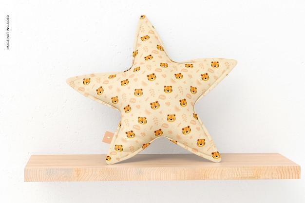 Мокап подушки звезды, вид спереди