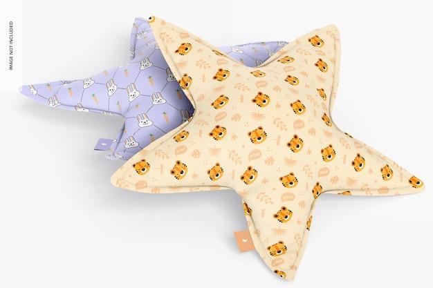 Мокап набора звездных подушек