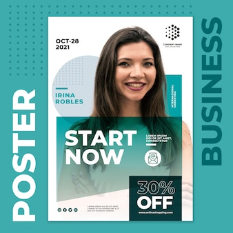 Start now business poster template