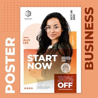 Inizia ora il modello di poster aziendale