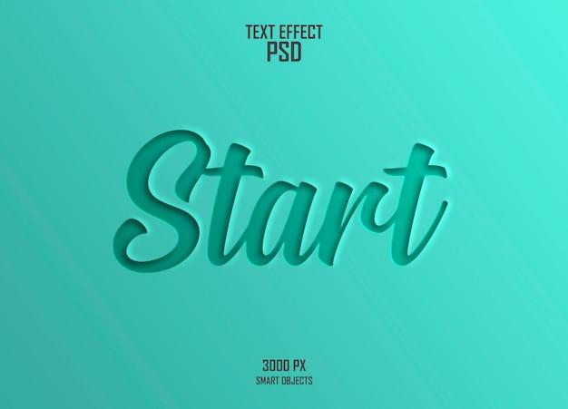 Start text effect