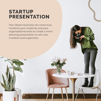 Startup business template psd for social media post