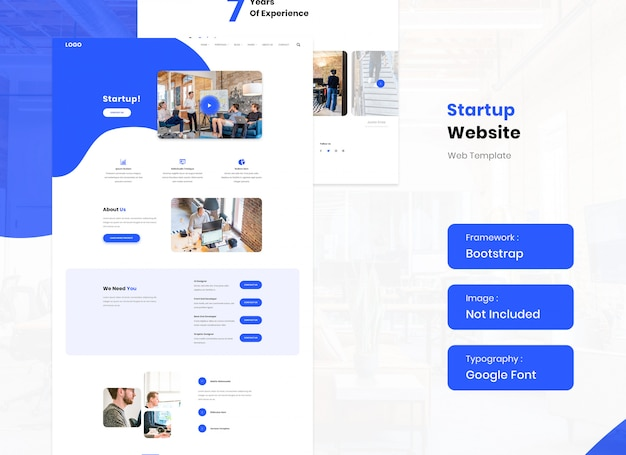Startup and corporate business website template