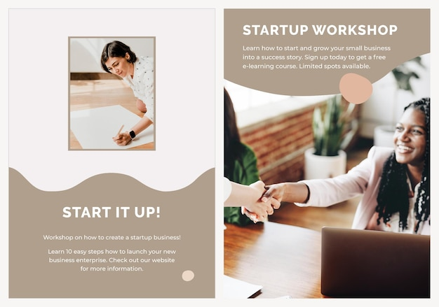 Startup poster template psd for small business