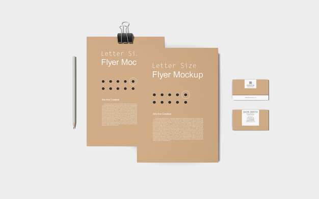 Stationary/branding mockup Premium Psd