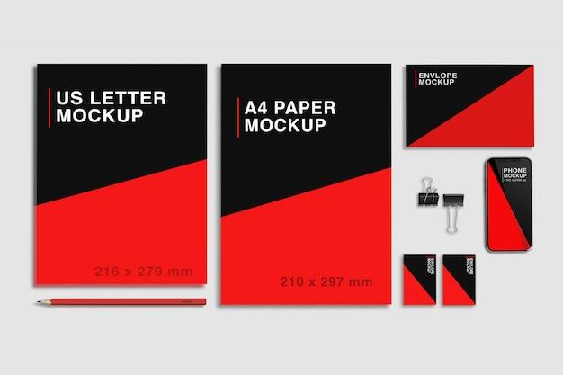 Stationary branding mockup