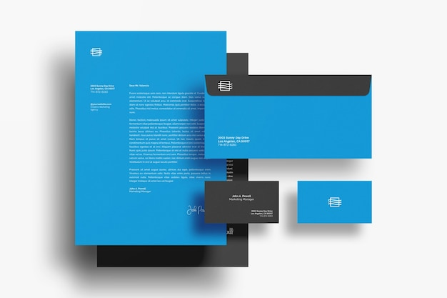 Stationary documents mockup