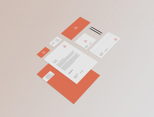 Stationary mock-up template