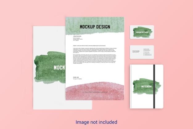 Стационарный макет дизайн