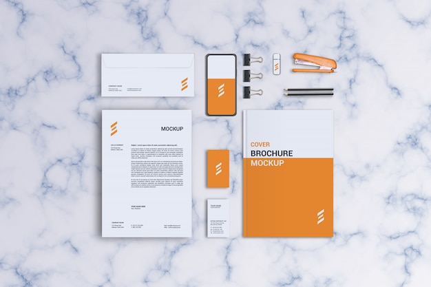 Stationary mockup template