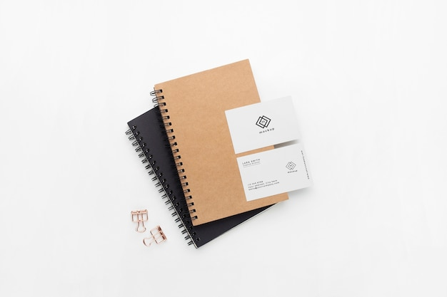 Stationary mockup on white background