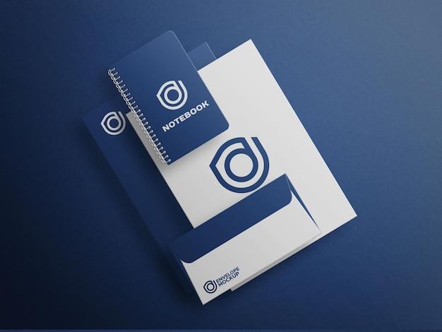 Файл макета канцелярского синего набора