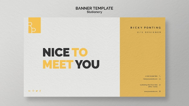 Stationery banner template