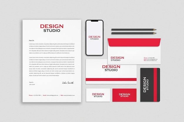 Stationery branding identity mockup design