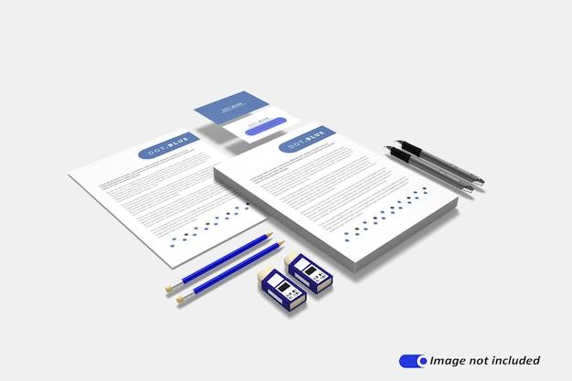 편지지 브랜딩 정체성 모형 장면 작성자 절연