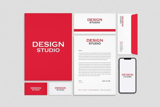 Stationery and branding mockup design