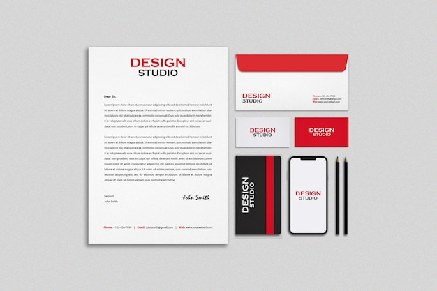 Stationery and branding mockup design