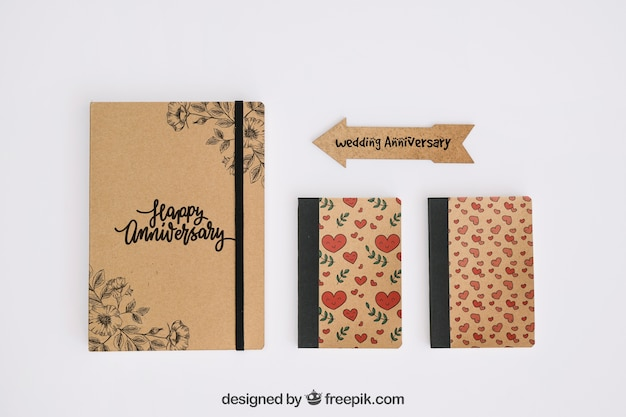 Stationery cardboard concept