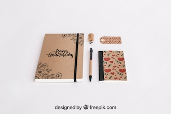 Stationery cardboard concept