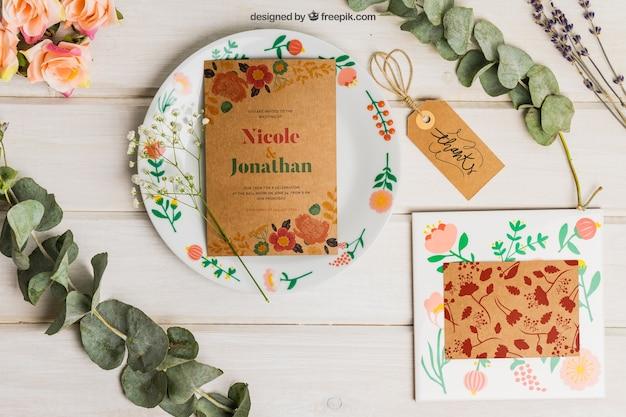 Stationery cardboard wedding set