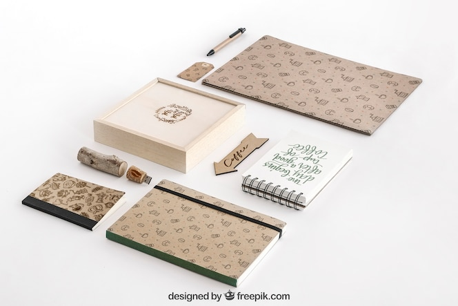 Stationery concept with office supplies