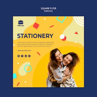 Stationery flyer template