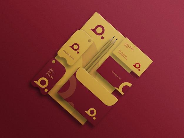 편지지 로고 목업 프레젠테이션 포토샵 파일