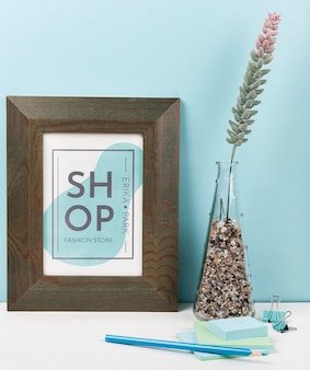 Stationery minimal concept mock-up