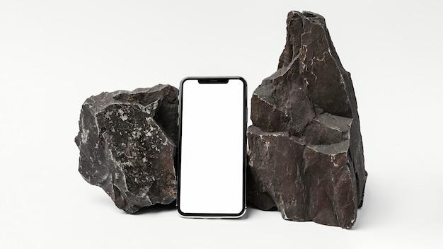 Макет канцелярских товаров с темным камнем
