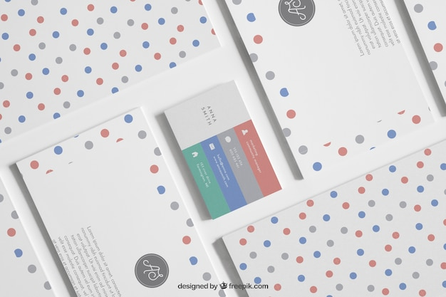 Stationery mock up with dots