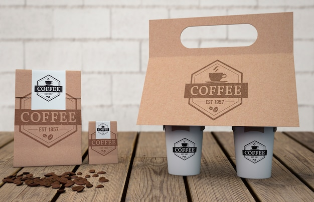 Stationery mockup for coffee shop