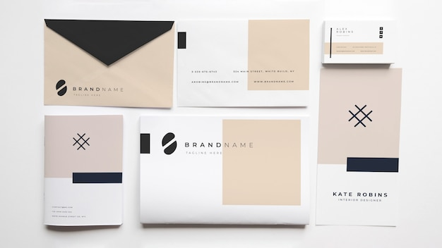 Stationery mockup of cover